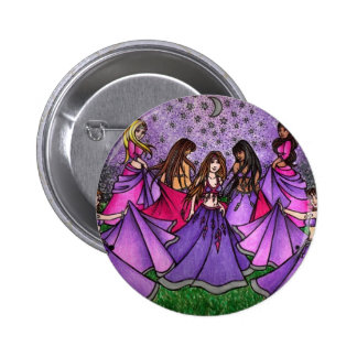 The Gathering of Belly Dancers in Purple Pinback Button