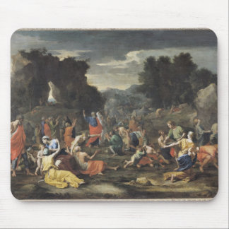 The Gathering of Manna c 1637-9 Mousepad