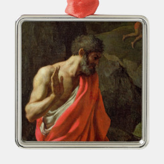 The Gathering of Manna, c.1637-9 Square Metal Christmas Ornament