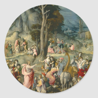 The Gathering of Manna - Francesco Bacchiacca Classic Round Sticker