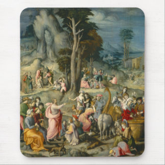 The Gathering of Manna - Francesco Bacchiacca Mouse Pad
