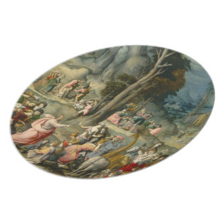 The Gathering of Manna - Francesco Bacchiacca Plate