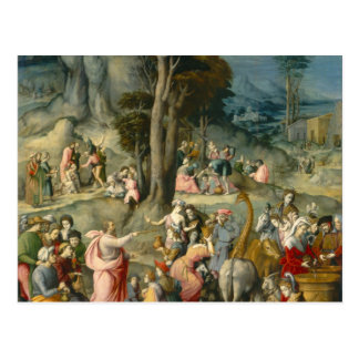 The Gathering of Manna - Francesco Bacchiacca Postcard