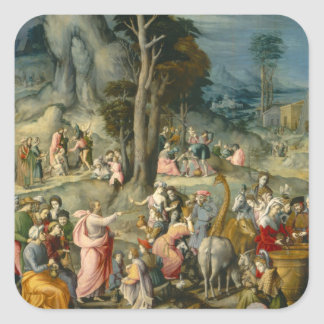 The Gathering of Manna - Francesco Bacchiacca Square Sticker