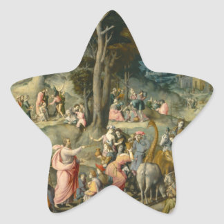The Gathering of Manna - Francesco Bacchiacca Star Sticker