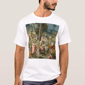 The Gathering of Manna - Francesco Bacchiacca T-Shirt