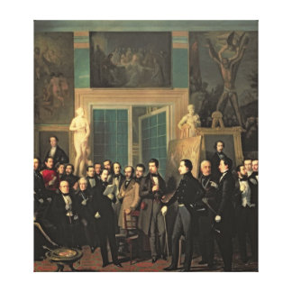 The Gathering of the Poets, 1846 Canvas Print