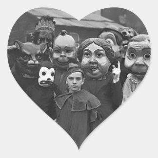 The Gathering on Halloween Heart Sticker