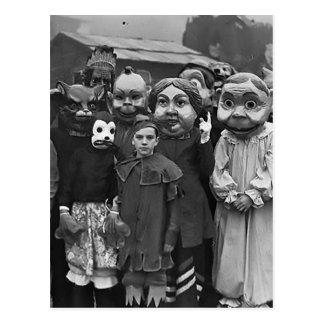 The Gathering on Halloween Postcard