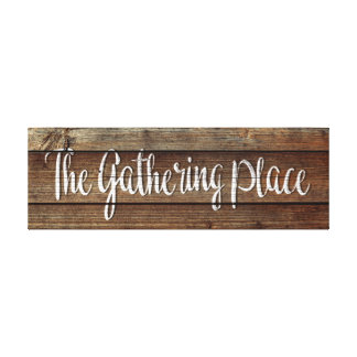 The Gathering Place Printed Canvas