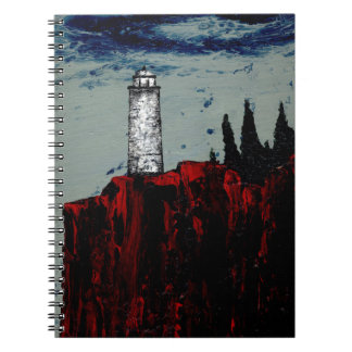 THE GATHERING STORM (lighthouse detail) ~ Notebook
