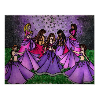 The Gathering Women Art Canvas Print