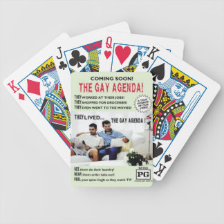 The Gay Agenda! Bicycle Playing Cards