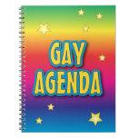 The Gay Agenda Spiral Notebooks
