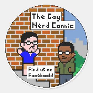 The Gay Nerd Comic Classic Round Sticker