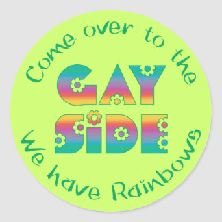 The Gay Side Classic Round Sticker