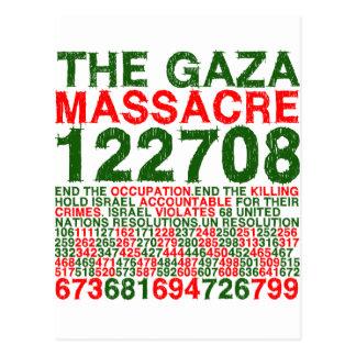 The Gaza Massacre Postcard