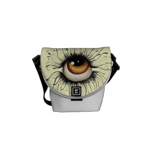 The Gaze Art Messenger Bag Mini