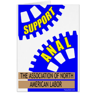 The Gears of Industry Grind the Worker Up! Card