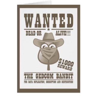 The GEDCOM Bandit Birthday Card - Customize