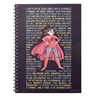The Geek Girl's Litany for Feminism Spiral Notebook