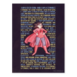 The Geek Girl's Litany for Feminism Postcard