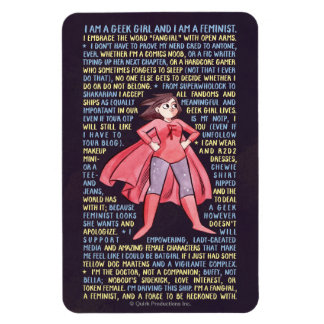 The Geek Girl's Litany for Feminism Rectangular Photo Magnet