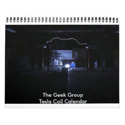 The Geek Group Tesla Coil Calendar