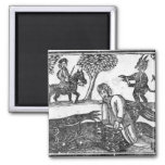 The Gelding of the Devil 2 Inch Square Magnet