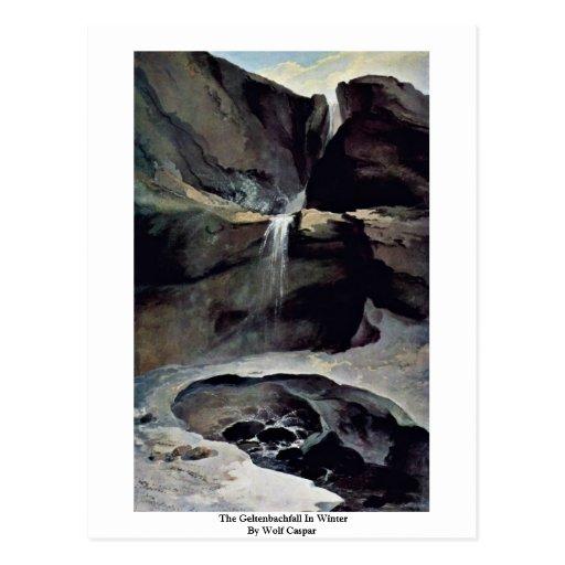 The Geltenbachfall In Winter By Wolf Caspar Postcard