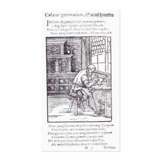 The Gem Engraver, published by Hartman Schopper Canvas Print