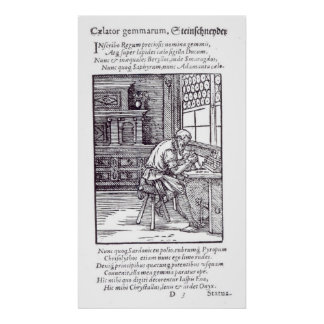 The Gem Engraver, published by Hartman Schopper Poster