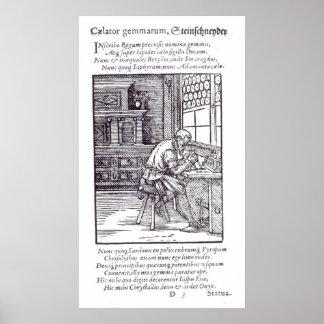 The Gem Engraver, published by Hartman Schopper Poster