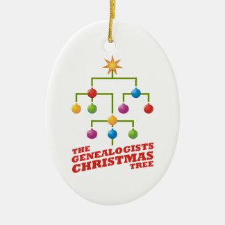 The Genealogists Christmas Tree Ceramic Ornament