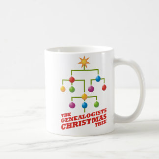 The Genealogists Christmas Tree Coffee Mug