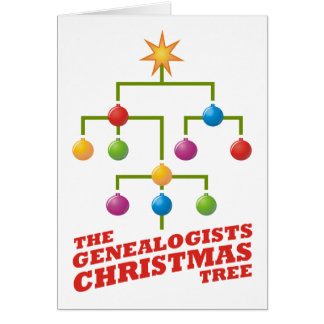 The Genealogists Christmas Tree Greeting Cards