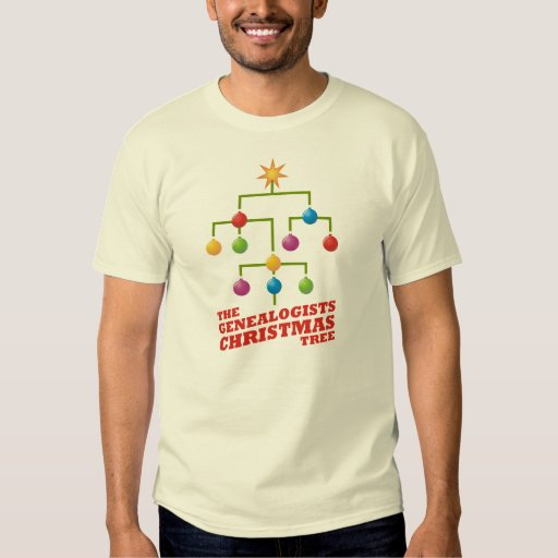 The Genealogists Christmas Tree T-shirt