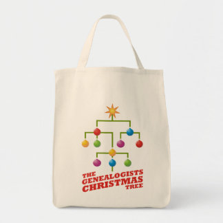 The Genealogists Christmas Tree Tote Bag