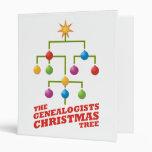 The Genealogists Christmas Tree Vinyl Binder