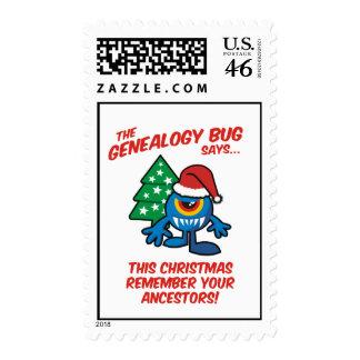 The Genealogy Bug Says Postage Stamp