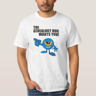 The Genealogy Bug Wants You! T-shirt