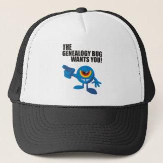 The Genealogy Bug Wants You! Trucker Hat