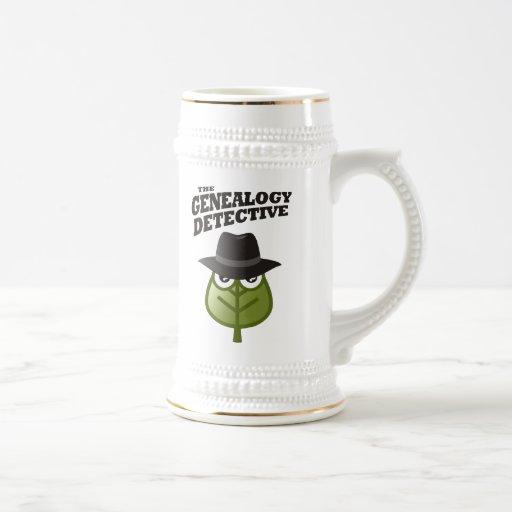 The Genealogy Detective 18 Oz Beer Stein