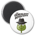 The Genealogy Detective Refrigerator Magnet