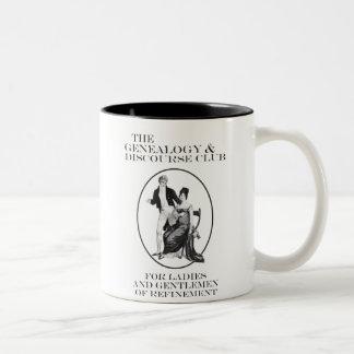 The Genealogy & Discourse Club Two-Tone Coffee Mug