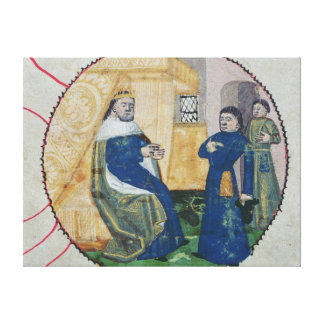 The Genealogy of Charles V and Charles VI Canvas Print