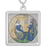 The Genealogy of Charles V and Charles VI Square Pendant Necklace