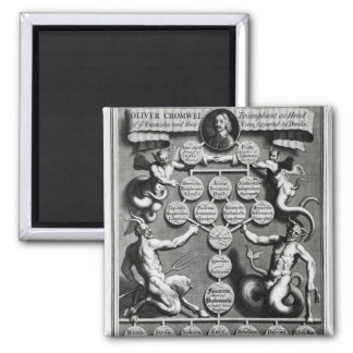 The Genealogy of the Anti-Christ Oliver 2 Inch Square Magnet