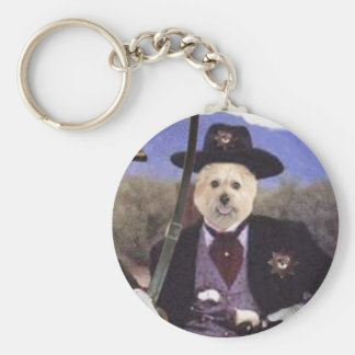 The General and Deputy Creno Basic Round Button Keychain