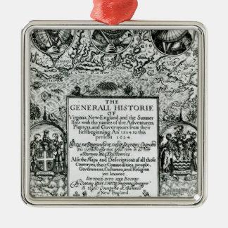 The General Histoire of Virginia Metal Ornament